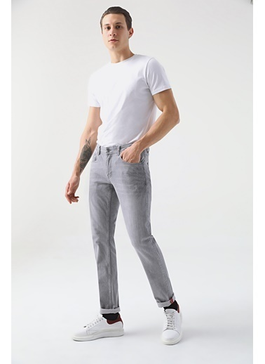 Tween Super Slim Fit Denım Pantolon Gri